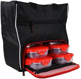 Сумка 6 Six Pack Fitness Camille Tote Black/Red1002 - фото 2