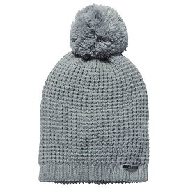 Шапка under armour Favorite Waffle Pom Beanie True Gray Heather / Black / White
