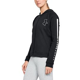 Толстовка under armour COTTON FZ HOODIE Black / Black / White
