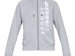 Джемпер under armour Cotton Fleece WM FZ Steel Light Heather / White / White