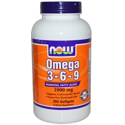 Omega 3-6-9 1000 mg 250 softgels