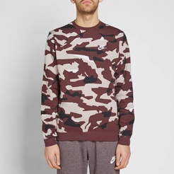 Джемпер nike M NSW CLUB CAMO CREW BB
