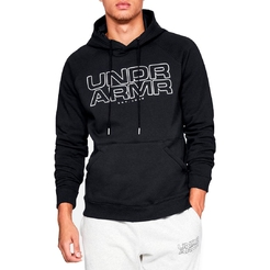 Толстовка under armour Baseline Fleece P O Hoody Black  Black  White