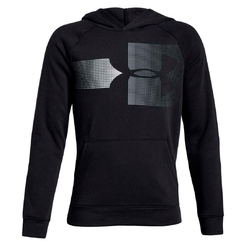Толстовка under armour Rival Logo Hoody Black   White 1318220-001