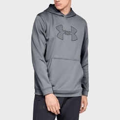 Толстовка under armour PERFORMANCE FLEECE HOODY Steel   Black