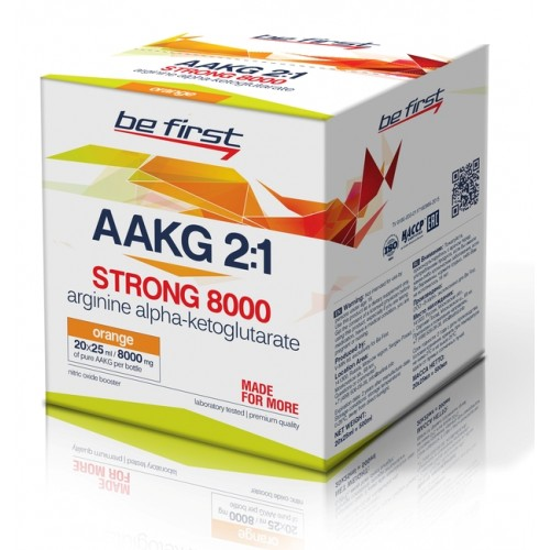 Be First AAKG 8000 STRONG (20 амп Х 25 мл) малина sr933