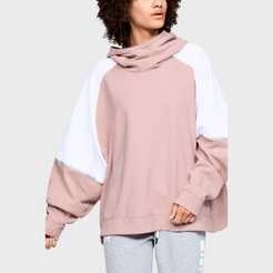 Толстовка under armour DOUBLE KNIT OS HOODIE Flushed Pink  White  White