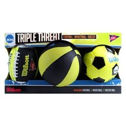 Набор мячей wilson NCAA TRIPLE THREAT KIT NGBL WTX0754ID