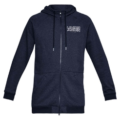 Толстовка Under Armour Baseline Flc Full Zip Hoody MidnightLight HeatherMidnightLight HeatherMidnight Nav1317446-410 - фото 1