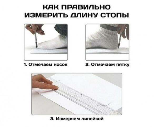 Измерить стопу